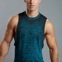 YMLA® Burnout Split Muscle Tank