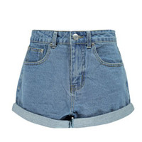 Lisa Turn Up Baggy Style Boyfriend Denim Shorts