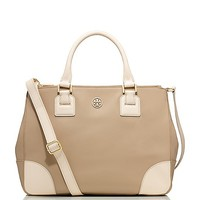 ROBINSON COLOR-BLOCK DOUBLE ZIP TOTE