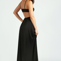 Cara Strappy Cut Out Back Detail Slinky Maxi Dress