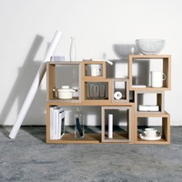 BlockBox Shelving Set - Brown -11%