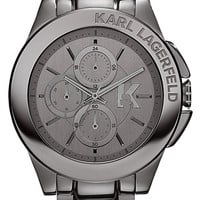 KARL LAGERFELD 'Energy' Chronograph Bracelet Watch, 44mm - Gunmetal