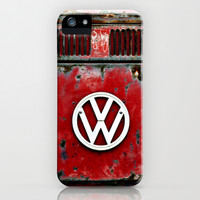 VW Retro Red iPhone & iPod Case by Alice Gosling