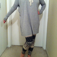 Grey Tunic Piko Top