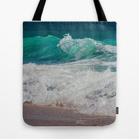 WAVE BEAUTY Tote Bag by Catspaws
