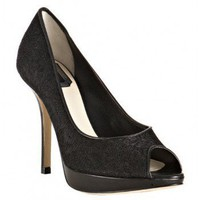 Christian Dior black lace 'Miss Dior' platform pumps