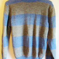 Vintage 1970's Slouchy Horizontal Striped Sweater