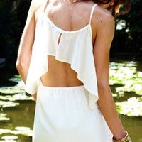 Lovers + Friends White Sunkissed Dress- Found on Bib + Tuck