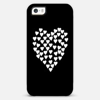 Hearts Heart White on Black | Casetagram
