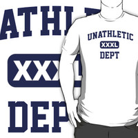 Funny 'Unathletic Dept. XXXL' T-Shirt