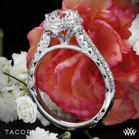 Platinum Tacori Classic Crescent Celestial Diamond Engagement Ring