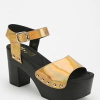 Ego And Greed Carleen Metallic Platform Sandal - Urban Outfitters