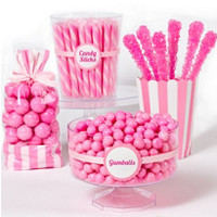 Light Pink Candy Buffet - Pink Candy Table Ideas- Party City