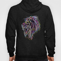 Neon Glow Lion (He)art Hoody by Zany Du Designs