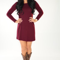 Simple And Flawless Dress: Merlot
