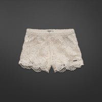 A&F High Rise Lace Shorts
