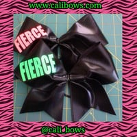 "fierce bow 3"" Cheer Bow"
