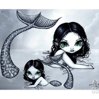 Mermaid Mother and Child Giclee Print by Jasmine Becket-Griffith at Art.com