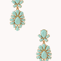 Striking Faux Stone Drop Earrings