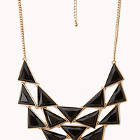 FOREVER 21 Bold Faux Stone Bib Necklace