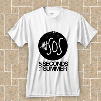 5 second of summer logo SOS t shirt