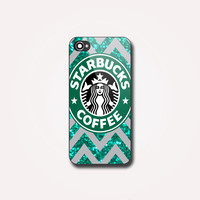 Starbucks Coffee Chevron - Photo on Hard case, for iPhone and Samsung Galaxy. Choose the option for device and colour case