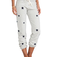 "291 ""Allover Stars"" Baggy Pant in Heather Grey"