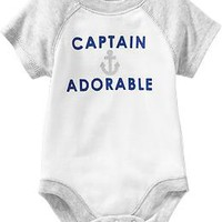 Nautical-Graphic Bodysuits for Baby