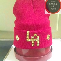 |LA Red| Beanie (front only design)