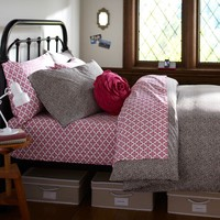 Mini Dot Duvet Cover + Pillowcases, Coffee