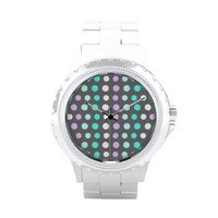 Polka Dots #2 - Grey Wrist Watch