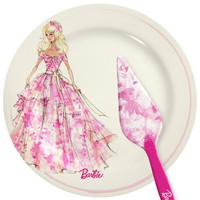 Barbie Cake Plate & Server Set - Barbie Houseware | Barbie Collector