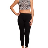 Tops / Crop Top / Aztec Mock Crop Top - Ocd Clothes Co.