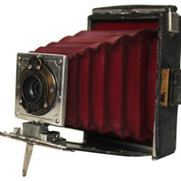 Red Eastman Kodak Camera, C. 1910