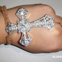 sliver cross Ring/bracelet