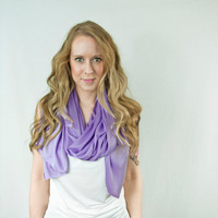 Violet Lilac Scarf Purple Tulip Infinity Traditional Spring Lightweight Long