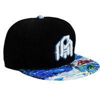 INTO THE AM Snapback - Palm/Black