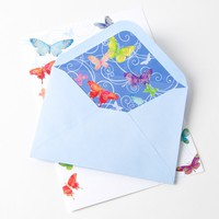 Butterflies in Rainbow Colors Writing Sheets