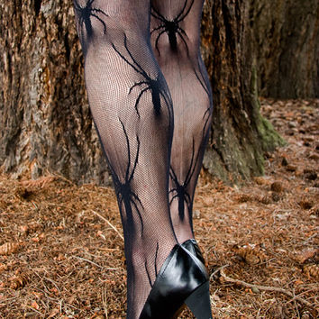 Socks by Sock Dreams » .Socks Special Collections » Fishnet » Micro Net Black Widow Tights