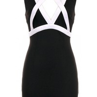 Colorblock Cut Out Dress