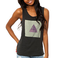 The Triangle Muscle Tee in Black