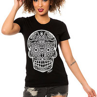 The Sugar Skull Tee in Black