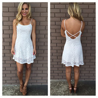 Ivory Loretta Skater Lace Dress