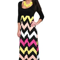 Happy Chevron II Maxi Dress