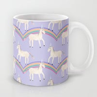 Unicorn Pattern on Pastel Purple Mug by Tangerine-Tane