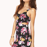 Punchy Floral Cutout Dress