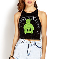 Cosmic Marvin The Martian Crop Top