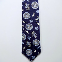 Vintage University of North Carolina Tarheels Necktie 1980s