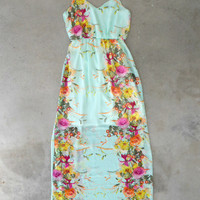 Mint Petal Pusher Maxi [5157] - $45.00 : Vintage Inspired Clothing & Affordable Dresses, deloom | Modern. Vintage. Crafted.