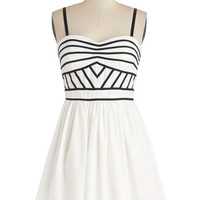 Lush with Beauty Dress in Monochrome